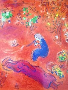 Marc Chagall: extrait de Daphnis et Chloé, lithographie en couleurs - VG Bild-Kunst, Bonn