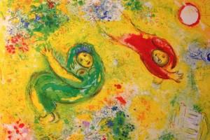 Marc Chagall, extrait de Daphnis et Chloé, lithographie en couleurs - VG Bild-Kunst, Bonn